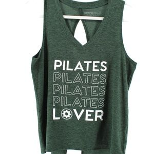 Beyond Yoga PILATES LOVER  Green Tank Top